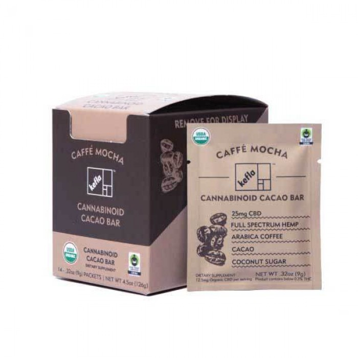 Kefla Organics Caffe Mocha CBD Chocolate Bar  - 9g