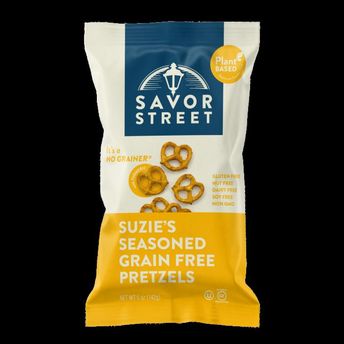 Savor Street Suzie's Seasoned Grain Free Pretzels - Gluten Free