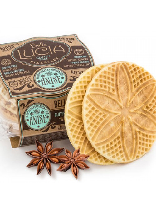 Gluten Free Pizzelle Cookie Anise Irregular
