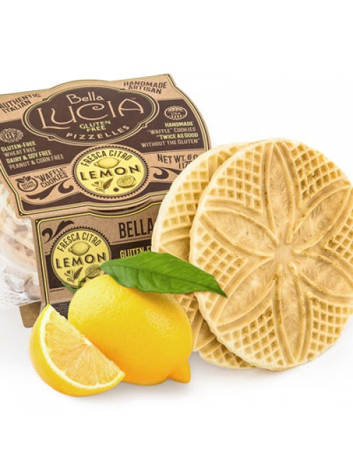 Gluten Free Pizzelle Cookies Lemon Irregular - 6oz