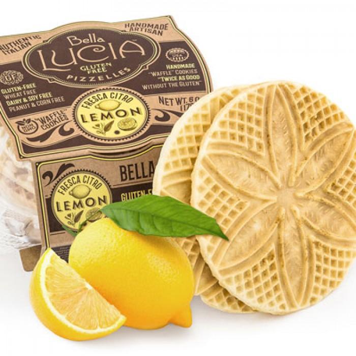 Gluten Free Pizzelle Cookies Lemon Irregular - 6oz