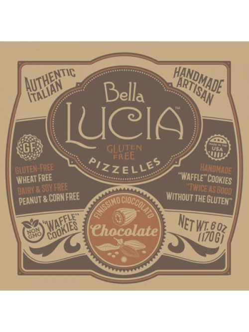 Gluten Free Pizzelle Cookies Chocolate - Case