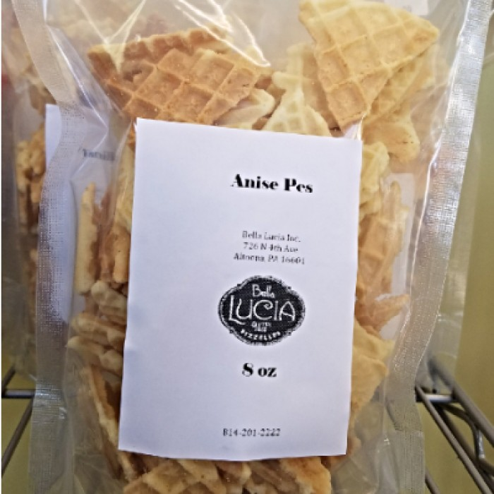 Gluten Free Pizzelle Cookie Pieces Anise 8 OZ