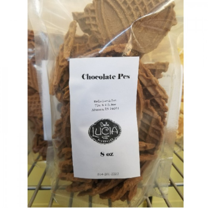 Gluten Free Pizzelle Cookie Pieces Chocolate 8 OZ.