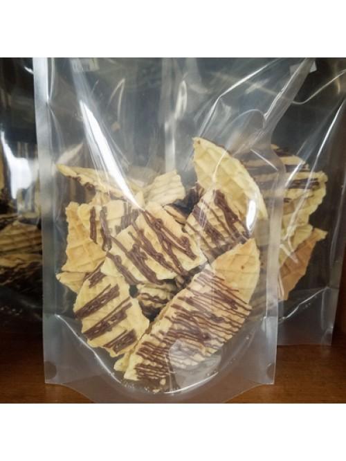 Gluten Free Pizzelle Cookie Pieces Chocolate Strip...