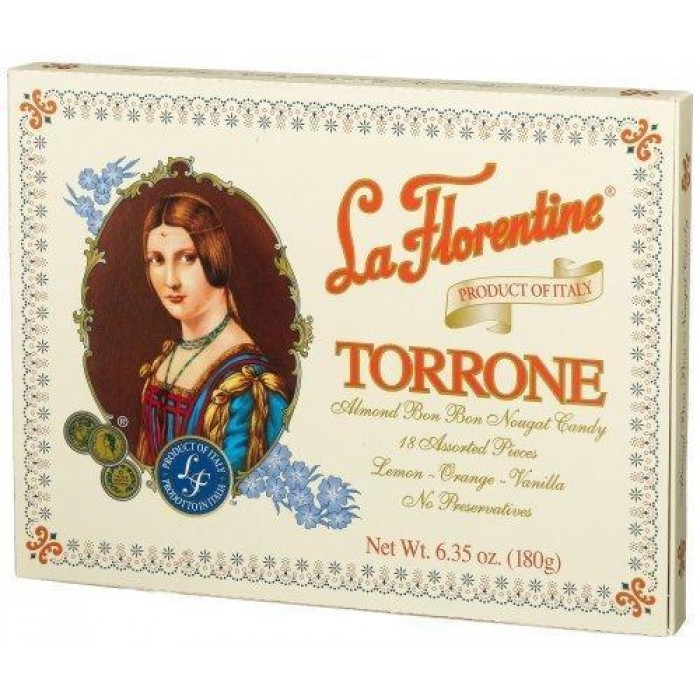 La Florentine Traditional Torrone Soft Nougat with Almonds - Gluten Free